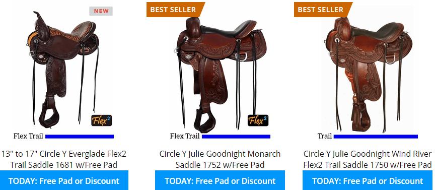 circle y trail saddles